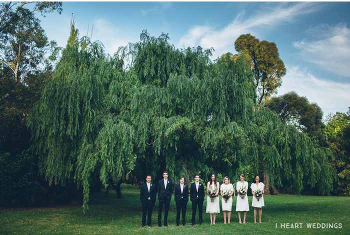 tiny people wedding bridal party all white willow tree