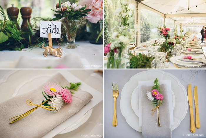 everlasting flowers wedding table