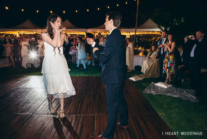 interpretive dance at a wedding