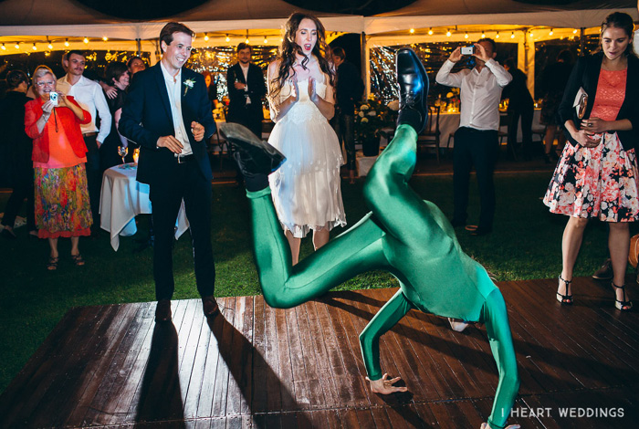 morph suit the worm at wedding